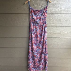 GAP boho printed strapless maxi casual dress